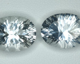 21.80 CTS~EXCELLENT LUSTER CUT NATURAL UNHEATED WHITE TOPAZ