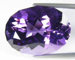 15.00Cts Excellent Quality Natural Amethyst Oval Custom Cut Loose Gem