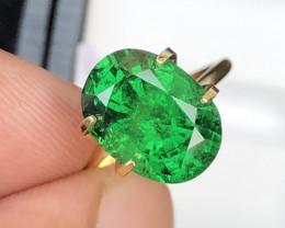 Vivid Green Color 5.10 Ct Tsavorite Garnet From Kenya
