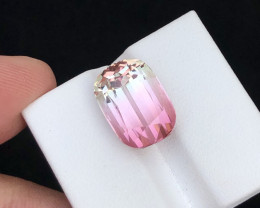 Brilliant Separation of Colors 14.40 Ct Bi-Color Tourmaline From Afghan
