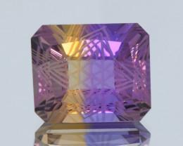 Flawless 14.91Ct Ametrine Exquisite Fantasy Cut Gemstone
