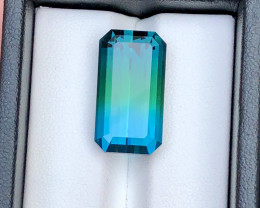 Exceptional Beauty 17.70 Ct Bi Color Tourmaline From Afghanistan
