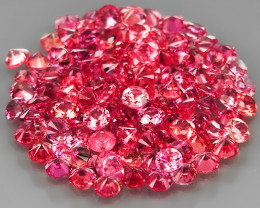 120Pcs/3.49Ct.Round Diamond Cut 1.7 mm.Ravishing Color Pink Sapphire Songea