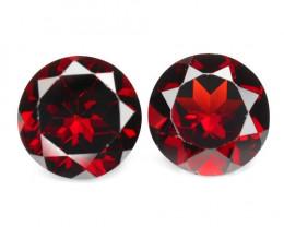 Rhodolite Gemstone 6.3 Cts Unheated Natural Cherry Red Loose Gemstone -Pair