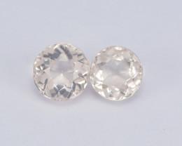 Morganite 1.64 Cts 2 Pcs Amazing Rare Natural Pink Color Gemstone