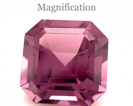 1.89ct Square Purple Spinel from Sri Lanka Unheated