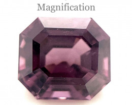 2.47ct Square Purple Spinel from Sri Lanka Unheated