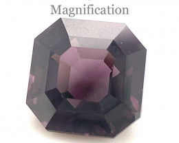 2.57ct Square Purple Spinel from Sri Lanka Unheated