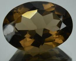 11.37 Cts Natural Smoky Quartz Brazil Gemstone