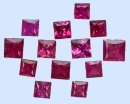 0.67 Cts Natural Ruby Princess Cut Heated Mozambique
