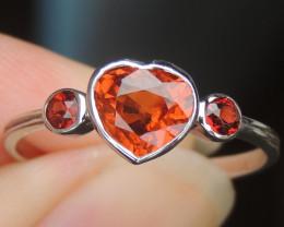 Mandarin Spessartite Garnet Ring