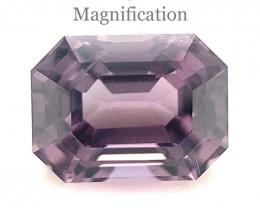 2.35ct Emerald Cut Purple Spinel from Sri Lanka- $1 NR Auction