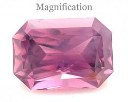 1.48ct Octagonal/Emerald Cut Purple-Pink Spinel from Sri Lanka Unheated