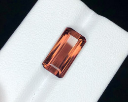 *NR*6.9(ct)Deep Pink Nigerian Tourmaline Faceted Gemstone