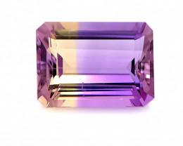 No Reserve 5.90 Cts  FALWLESS BOLIVIAN  AMETRINE Fancy cut   Gemstone