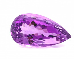 No Reserve 28.60 Cts  Top color Fancy cut Natural  Amethyst Gemstone