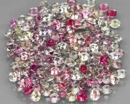 180Pcs/3.44Ct.Round Diamond Cut 1.5 mm.UNHEATED! Fancy Color Sapphire Songe