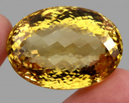 127.25 ct. Top Quality Natural Golden Yellow Citrine Brazil Unheated