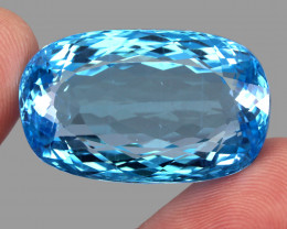96.18 ct. 100% Natural Earth Mined Quality Swiss Blue Topaz Brazil
