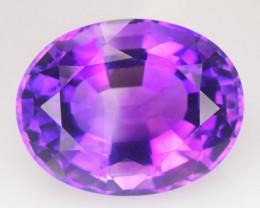 Amethyst 6.91 Cts European Cut Rare Purple Color Loose Gemstone