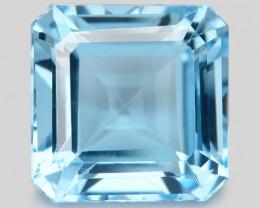 Blue Topaz 4.43 Cts Asscher Cut Fancy Color Natural Gemstone