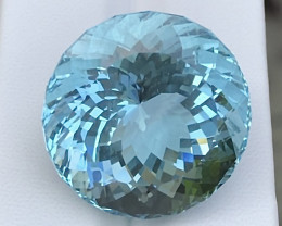 40.76ct Blue Aquamarine With Excellent Luster And Fine Cutting Gemstone