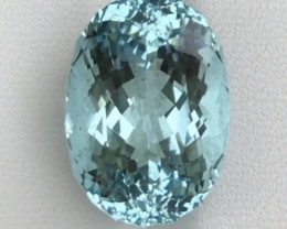 14.48ct Blue Aquamarine With Excellent Luster And Fine Cutting Gemstone