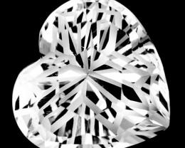4.92 Cts Glamorous Natural White Topaz Heart Magic Cut Gem Ref VIDEO