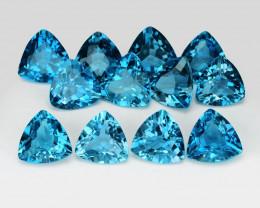 London Blue Topaz 3.63 Cts 12 Pcs Fancy Natural Gemstone - Parcel