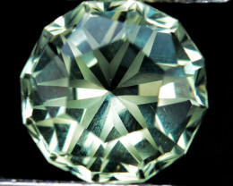 5.34 Cts Genuine 100% Natural Prasiolite Amethyst Round Custom Cut REF VIDE