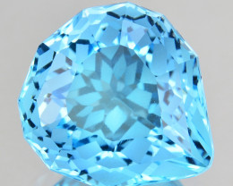 7.30 Cts Genuine 100% Natural Swiss Blue Topaz Fancy Custom Cut REF VIDEO