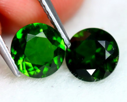 Chrome Diopside 2.37Ct VS 2Pcs Round Cut Natural Chrome Diopside SD669