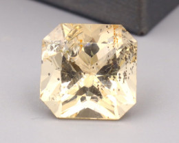 Scapolite 10.80Ct Radiant Cut Natural Yellow Color Scapolite SF945