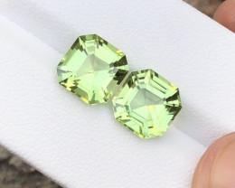 7.25 Carats Natural Peridot Cut Stones Pair from Pakistan
