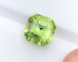 6.50 Carats Natural Peridot Cut Stone from Pakistan