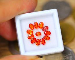 3.59Ct Natural Songea Orange Sapphire Oval Cut Lot LZ9977