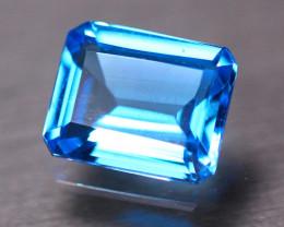 4.60Ct Natural Swiss Blue Topaz Octagon Cut Lot LZ9984