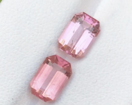 High Clean 4.00 ct Outstanding Baby Pink Tourmaline Pair ~ T