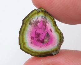5.25 CT, Natural Watermelon Tourmaline Slice