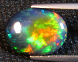 4.87Cts Natural Earth Mined Color Play Black Opal Oval Cabochon Loose Gem