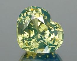 Parti Color Green Sapphire 3.51Ct.
