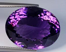 29.87 ct  Top Quality Gem Oval Cut Natural Purple Amethyst