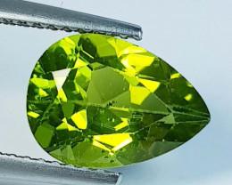 3.32 ct  Top Quality Gem  Pear Cut Top Luster Natural Peridot