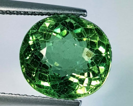 5.48 Ct Top Quality Oval Cut Natural Green Apatite