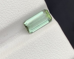 1.35 carats green colour Tourmaline Gemstone From  Afghanistan