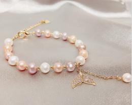 42.80Ct Baroque Freshwater Pearl Beads Bracelet SF321