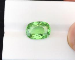 HGTL CERTIFIED 5.57 Ct Natural Green Paraiba Tourmaline Gemstone