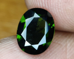 1.60 CTS  RARE NATURAL OVAL CUT RUSSIAN CHROME DIOPSIDE