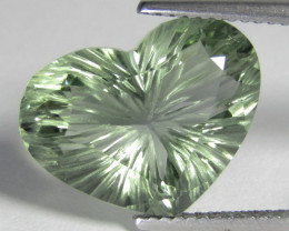 7.32Cts Stunning Natural Green Amethyst (prasiolite) Heart Shape Loose Gems