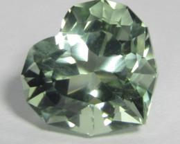 6.73Cts Stunning Natural Green Amethyst (prasiolite) Heart Shape Custom Cut